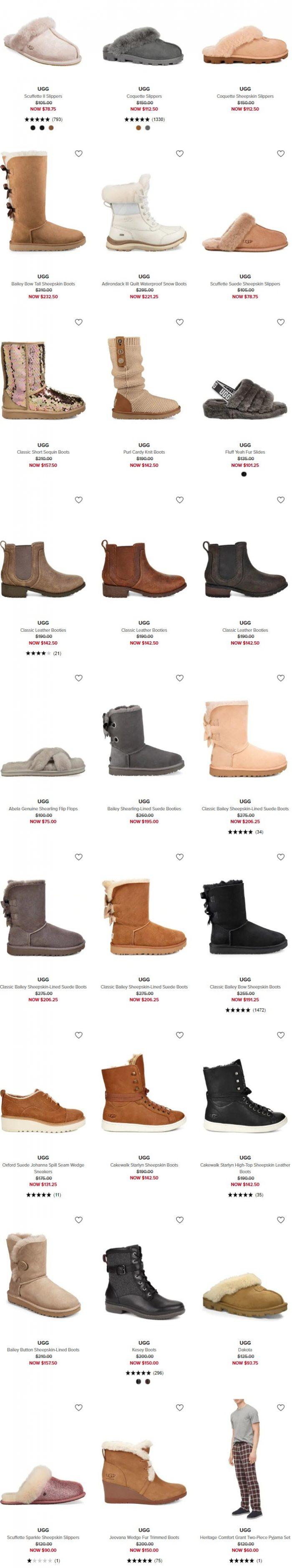 速抢!精选新款 UGG 雪地靴全部5.6折清仓,低至56.25加元!内有单品推荐!