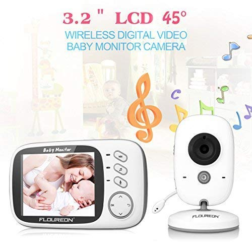 白菜价!历史新低!FLOUREON 多功能 3.2英寸大屏 无线婴儿监视器4.3折 49.99加元清仓并包邮!