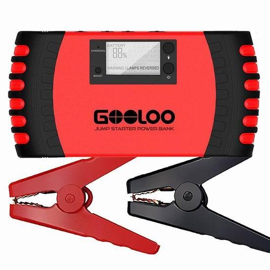 GOOLOO 800A Peak 18000mAh 4合一 便携式充电宝/汽车电瓶紧急启动电源 52.19加元包邮!免税!