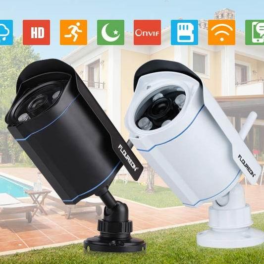 白菜价!FLOUREON 720P 室外无线Wi-Fi安全监控摄像头 29.99加元清仓!2色可选!