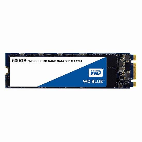历史新低!WD 西数 Blue 3D NAND 500GB PC SSD固态硬盘 79.99加元包邮!会员专享!