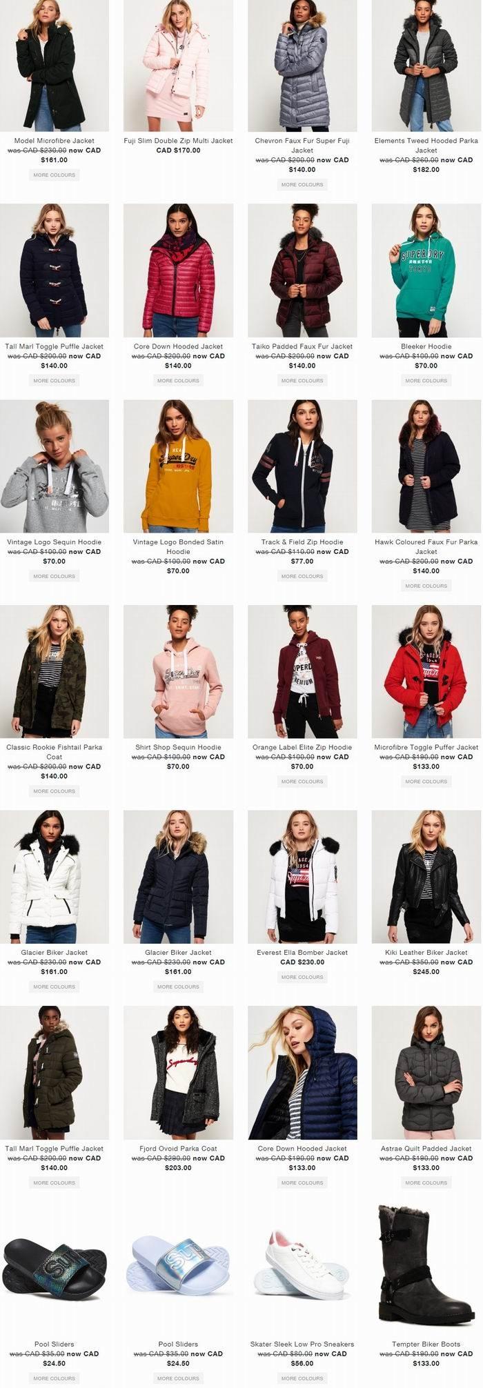 英国 Superdry 极度干燥 季末大促!精选男女潮款防寒服、休闲服、卫衣、鞋靴等7折+包邮包税!