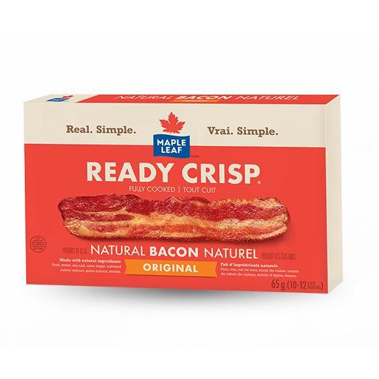 厂家免费赠送10000份 Maple Leaf Ready Crisp 65克装 培根肉!