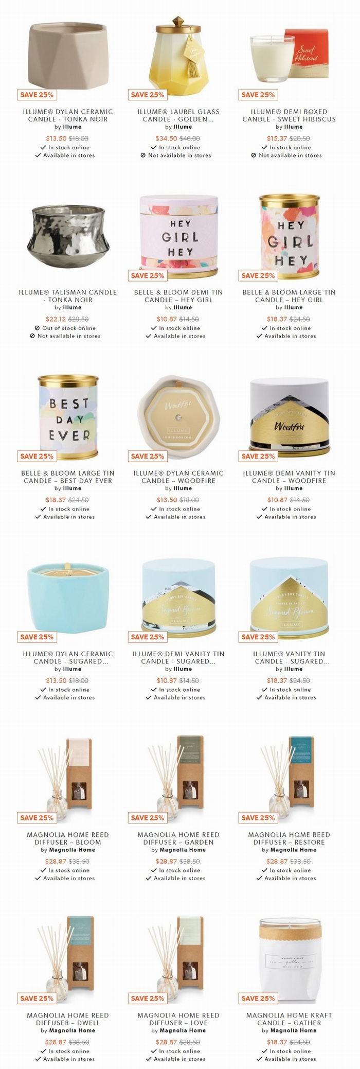 精选 Illume、Indigo Scents、Vancouver Candle Co等品牌香薰 7.5折起优惠+全场包邮!