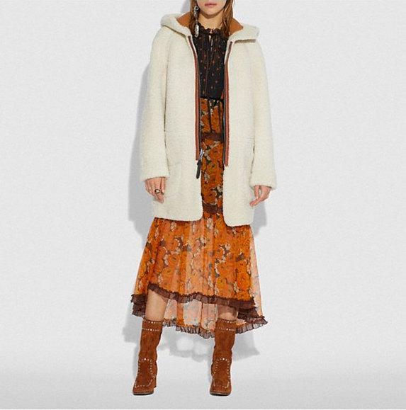 Coach Reversible 羊毛一体两面穿大衣 1500加元,原价 3000加元,包邮