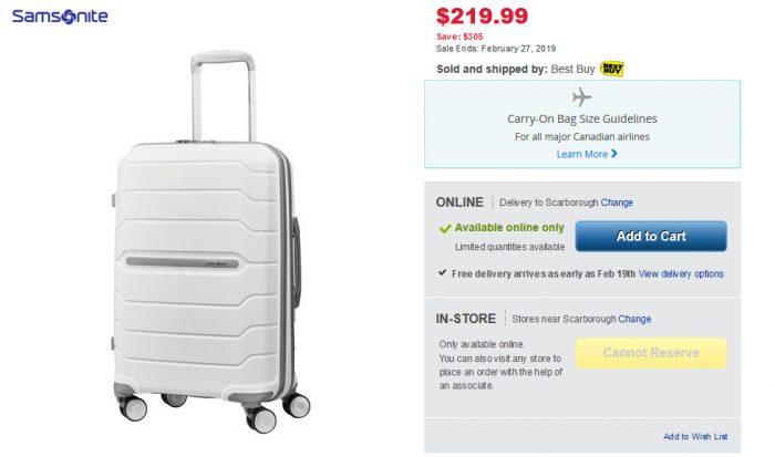 明星同款!Samsonite 新秀丽 Freeform 系列 行李箱 219.99-749.85加元(多色可选),原价 524.98-1874加元,包邮