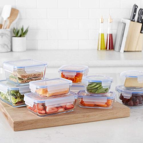 AmazonBasics 玻璃保鲜碗20件套 35.43加元,原价 66.78加元,包邮