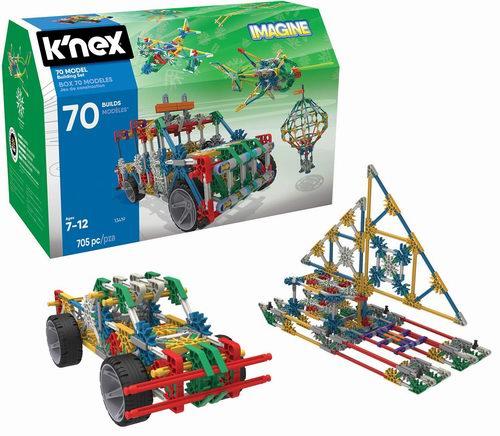 手慢无!历史新低!K'NEX 70 模型拼接玩具(705pcs)2.9折 16.19加元!