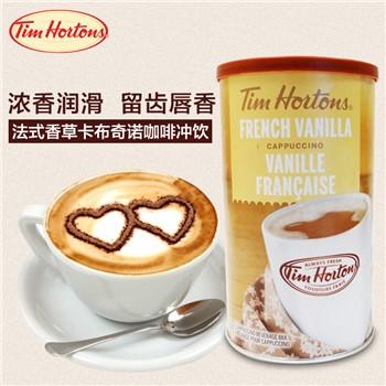 Tim Hortons 速溶卡布奇諾咖啡 法式香草味454克 6.62加元+包邮!