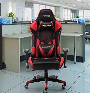WENSIX 人体工学 高靠背赛车办公椅/游戏椅 161.49加元限量特卖,原价 209.99加元,包邮