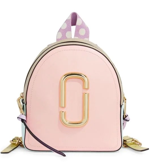 Marc Jacobs 时尚粉金色双肩包 297加元,原价 495加元,包邮