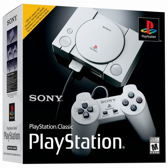 手慢无!PlayStation Classic 双手柄 复刻迷你游戏机3.8折 49.99加元清仓并包邮!内置20款经典游戏!