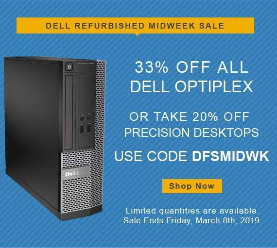 最后一天!Dell Refurbished 指定款翻新 Dell 戴尔 台式机特价销售,最高额外6.7折!