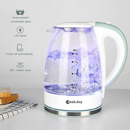 COOK JOY 1.8升 蓝光玻璃电热水壶6折 29.99加元!