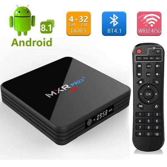 RBSCH 2019 MXR Pro+ 双频WiFi 网络电视机顶盒(4GB/32GB) 57.89加元限量特卖并包邮!