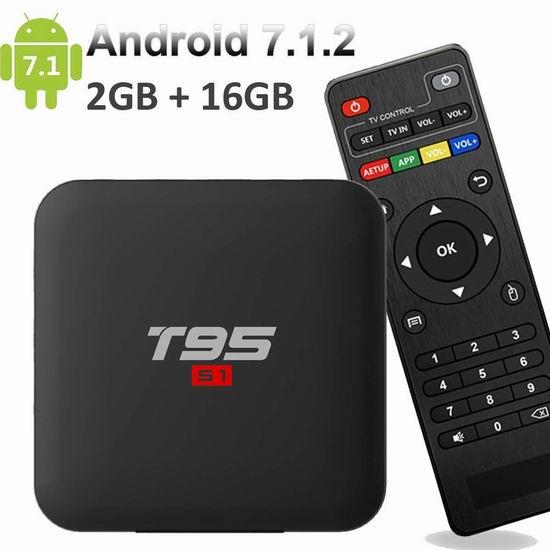 EASYTONE Android 7.1.2 流媒体播放器/网络电视机顶盒(2GB/16GB) 39.39加元限量特卖并包邮!