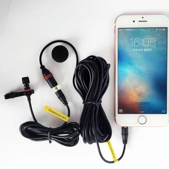 白菜价!历史新低!FMUSER Lavalier 手机专用 领夹式全向电容麦克风 5.99加元清仓!送6米超长延长线!