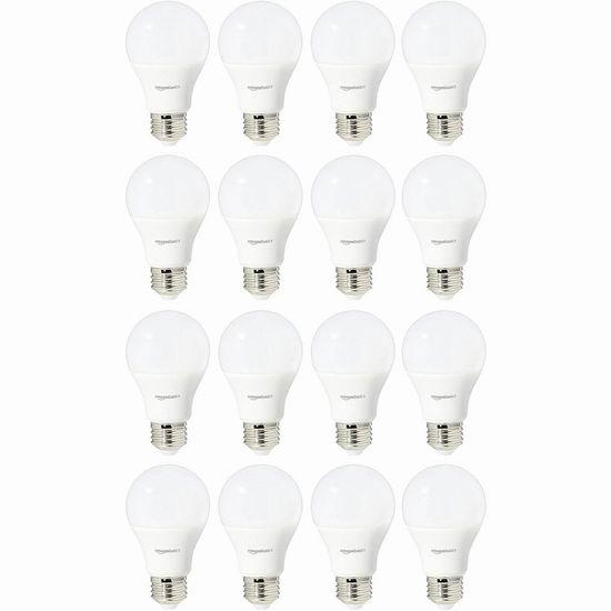 AmazonBasics A19 60瓦等效 LED节能灯16件套 31.18-31.98加元!2款可选!