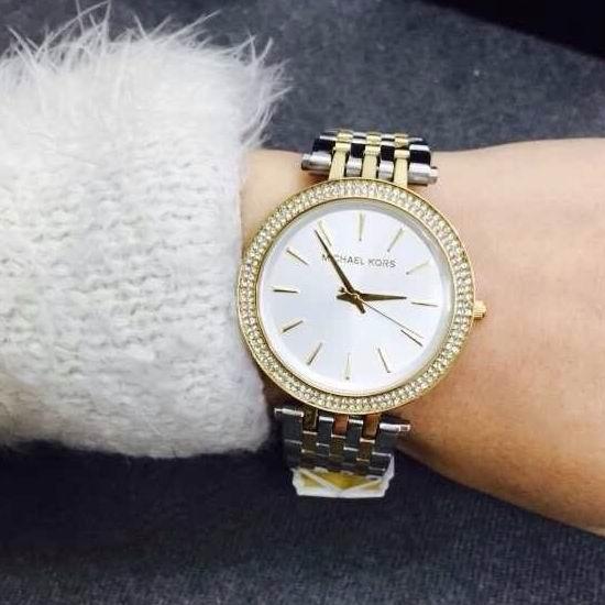 历史新低!Michael Kors MK3215 金银双色 女士经典简约腕表/手表4.8折 120加元限量特卖并包邮!