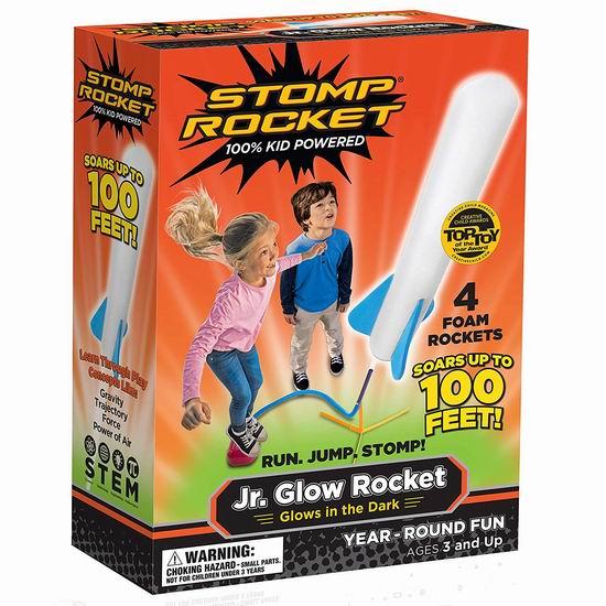 白菜价!Stomp Rocket Jr. Glow 儿童脚踏火箭 8.37加元清仓!