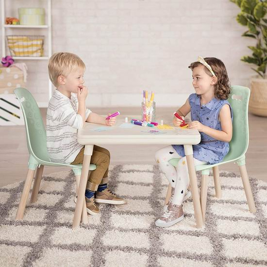 历史新低!B. spaces by Battat BX1663Z 儿童时尚桌椅3件套4.1折 63.51加元!