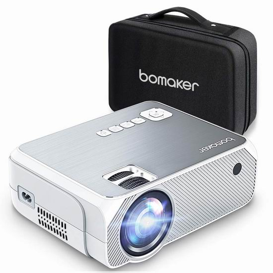 历史新低!BOMAKER 3600流明 1080P 家庭影院投影仪 101.99加元包邮!