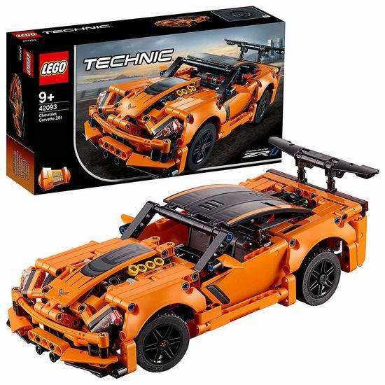 历史最低价!新品 Lego 乐高 42093 机械组 二合一 雪佛兰 Corvette ZR1 超级跑车(579pcs)8折 55.99加元包邮!