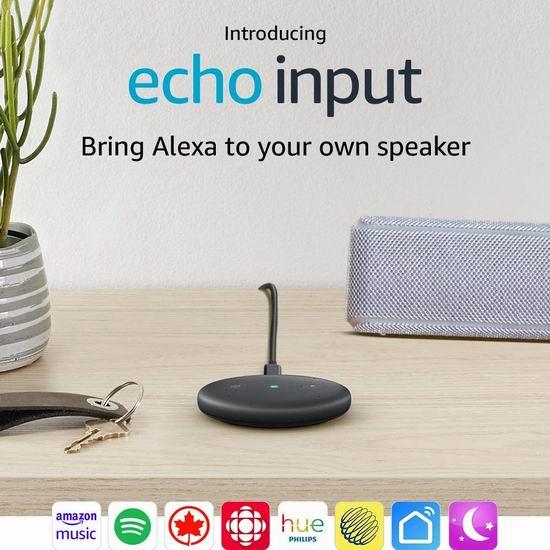 新品大促!历史新低!Echo Input 智能声控助手6.6折 29.99加元!2色可选!