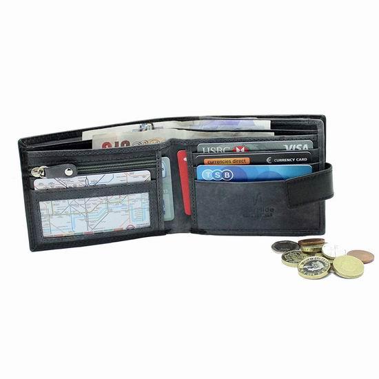 Starhide RFID防盗 黑色真皮钱包 14加元限量特卖!