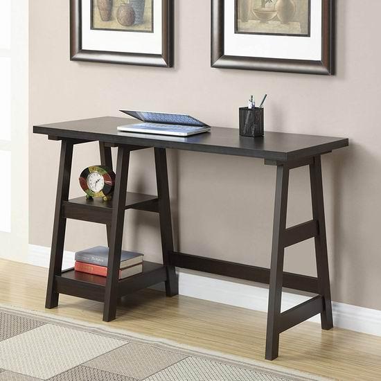 历史新低!Convenience Concepts 090107Es 深咖啡色电脑桌/书桌5.6折 129.49加元包邮!