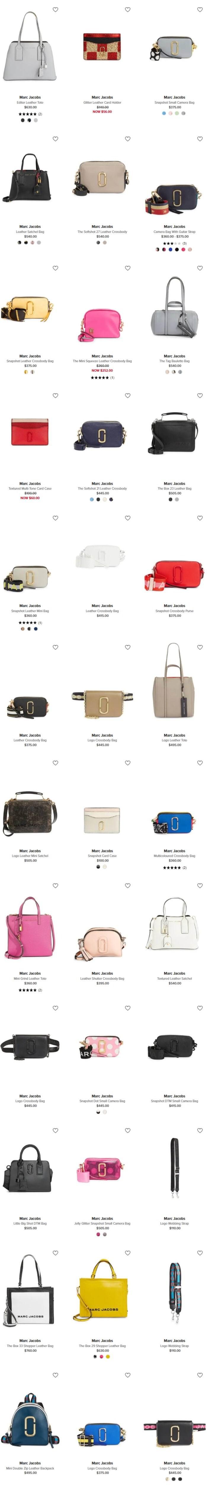 小仙女快抢!Marc Jacobs 全场相机包、美包、腰包、背包等7.5折!入经典款及果冻新款相机包!