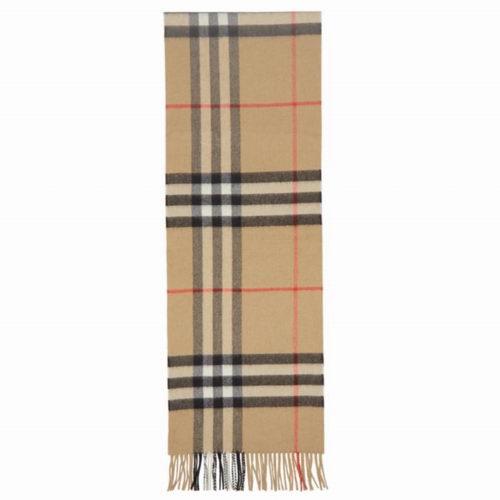 Burberry经典格纹羊绒围巾 440加元,官网价 550加元,包邮