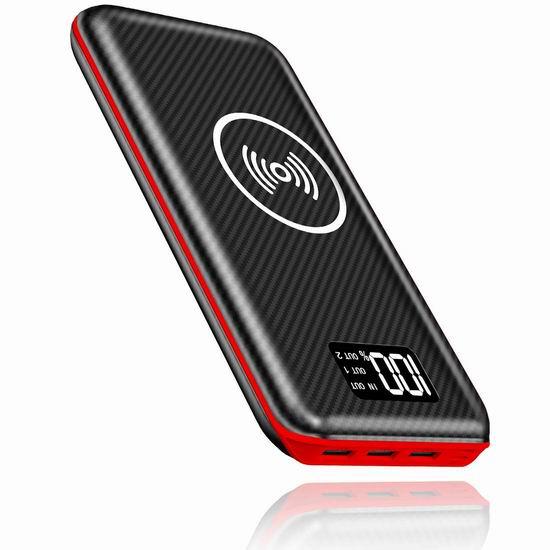 Kedron 24000mAh 无线Qi快充 大容量充电宝 27.19加元限量特卖并包邮!