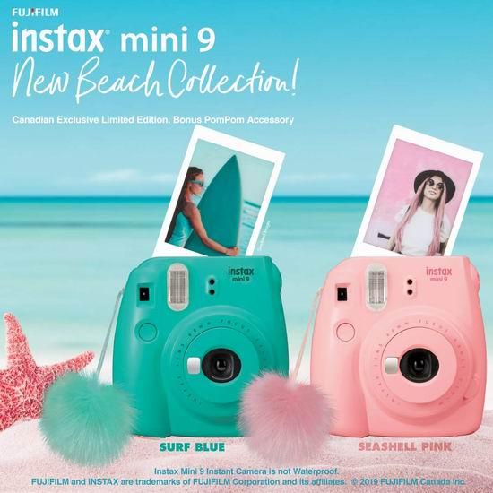 近史低价!Fujifilm Instax Mini 9 拍立得相机 69.99加元包邮!粉蓝2色可选!
