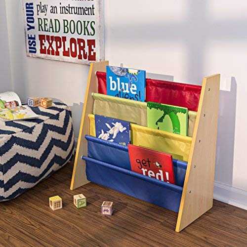 历史新低!Honey-Can-Do SHF-05077 彩色布艺儿童书架5.7折 37.49加元包邮!