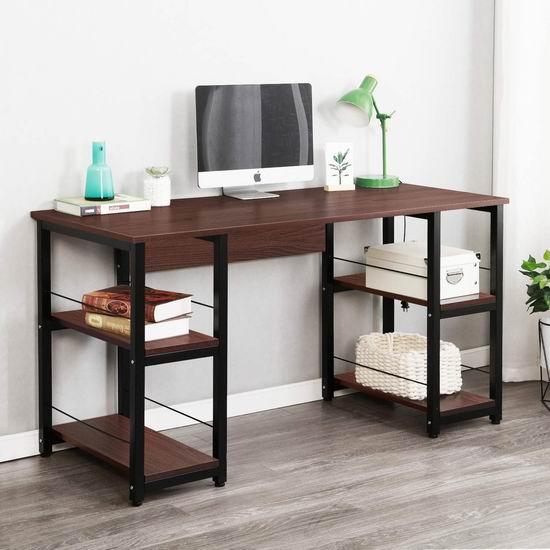 历史新低!Soges DZ012-140-BK-CA 55英寸 时尚电脑桌5.1折 102加元包邮!