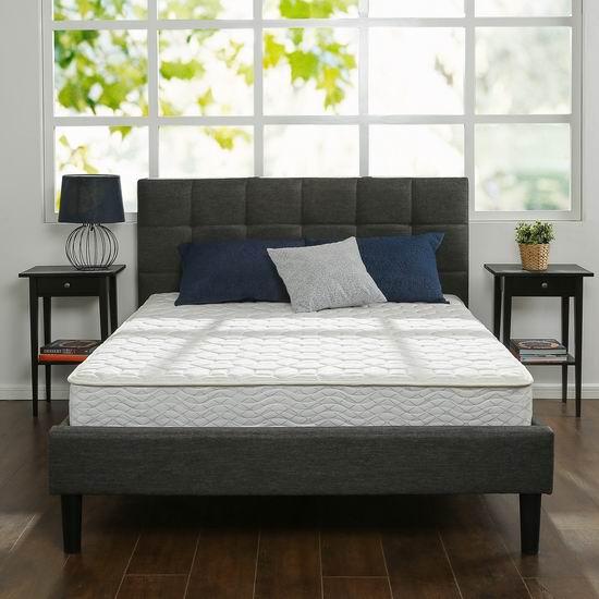 历史新低!Zinus 8英寸 记忆海绵+弹簧Queen床垫 172.17加元包邮!