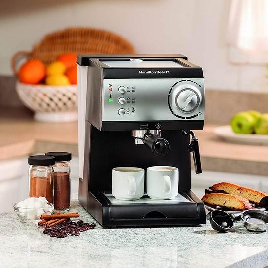 销量冠军!Hamilton Beach 40715 意式特浓咖啡机4.2折 49.97加元包邮!