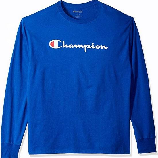 Champion Jersey 经典长袖T恤4.3折 22加元起!多色可选!