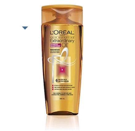 L'Oreal Paris 欧莱雅 干性头发润泽柔顺精油洗发露 3.85毫升 3.78加元,会员价 3.21