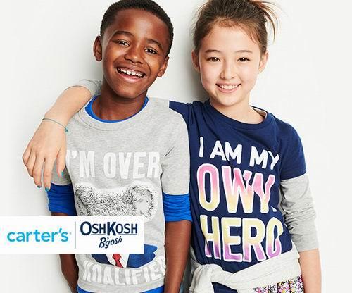 Carters精选男童卫衣、T恤、衬衣 、裤装  3.99加元起特卖!