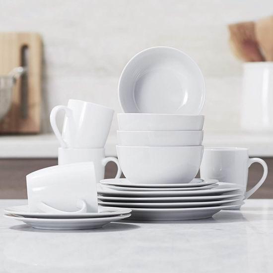 销量冠军!AmazonBasics 陶瓷餐具16件套3.8折 40.45加元包邮!