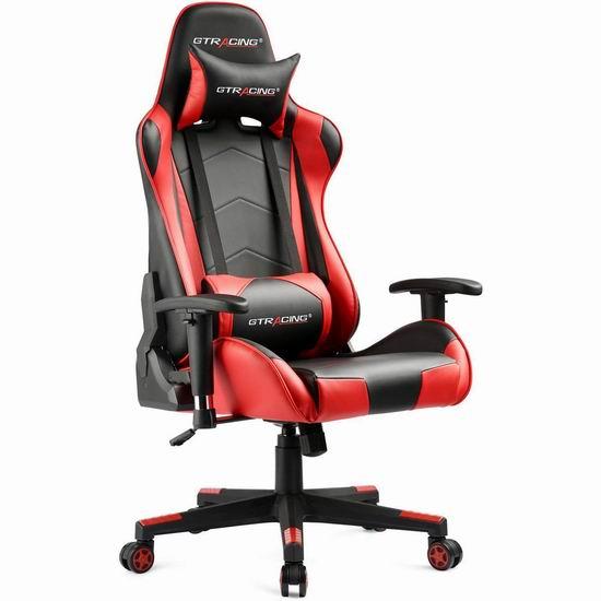 GTRACING 人体工学 高靠背赛车办公椅/游戏椅 169.99加元限量特卖并包邮!