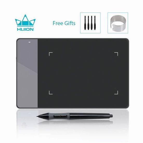 Huion 绘王 420 数位板/绘图板/手写板 21.64加元限量特卖!