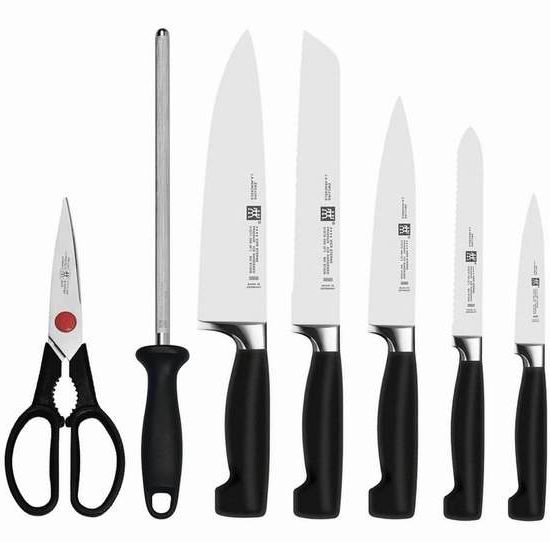 Zwilling J.A Henckels 双立人 四星系列厨房刀具8件套2.6折 239.99加元包邮!送价值234.99加元牛排刀8件套!