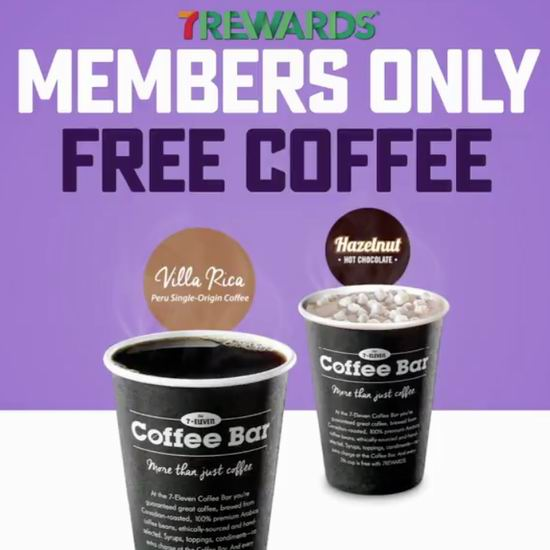 7-Eleven 连锁店 免费赠送咖啡热饮!仅限今日!