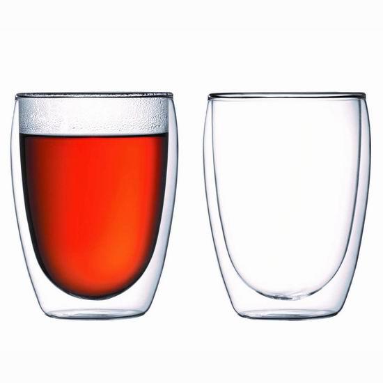 近史低价!丹麦 Bodum 12盎司 双层隔热玻璃杯2件套3.9折 14.99加元!