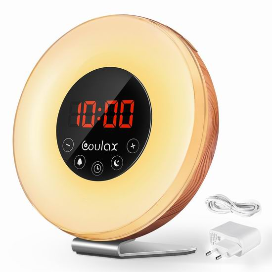 COULAX 多功能自然唤醒灯 25.99加元限量特卖并包邮!