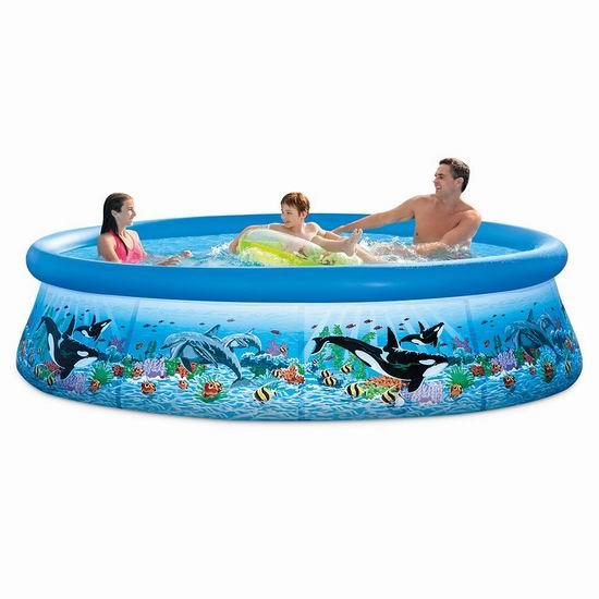 历史新低!Intex 10ft X 30in Ocean Reef 便携式游泳池 105.75加元包邮!