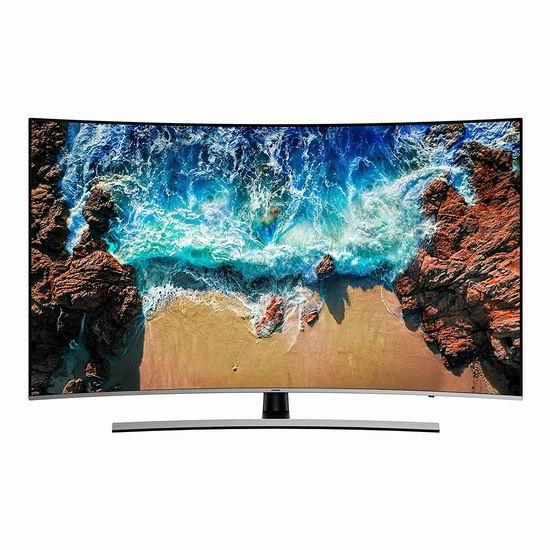 历史新低!Samsung 三星 UN55NU8500FXZC Curved 55英寸曲面 4K超高清 智能电视6折 897.99加元包邮!